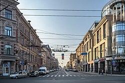 The gorokhovaya street looking toward the admiralty