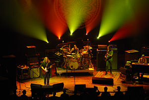 Gov't Mule - The Mule performing in 2008: L to R, Haynes, Abts, Hess, Louis