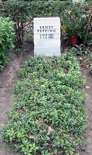 Ernst Pepping - Image: Grabstätte Trakehner Allee 1 (Westend) Ernst Pepping