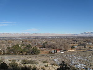 Grand Junction, Colorado - Looking north from Grand Junction in January 2011