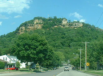 La Crosse, Wisconsin - Grandad Bluff in La Crosse