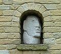 Granite head in a niche, Dean Clough, Halifax (7895652680).jpg