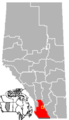 Granum, Alberta Location.png