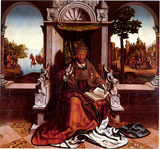 Grão Vasco - St Peter in his throne (c.1530), one of the masterpieces of Vasco Fernandes, formerly in Viseu Cathedral and now in the Grão Vasco Museum in the same town.