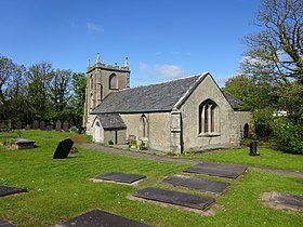 Graves and St Ceinwen's Church, Llangeinwen, Ynys Mon, Wales 04.jpg