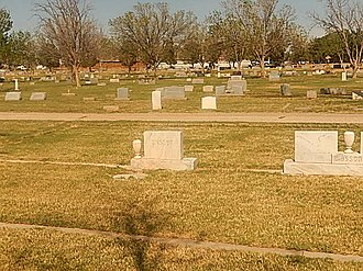 Crane County, Texas - Graves at Crane County Cemetery off U.S. Route 385