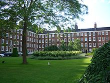 Part of Gray's Inn, showing some sets of chambers and a section of the Walks