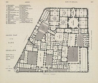 John Soane - Ground plan of the Bank of England