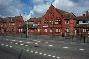 Winsford - Brunner Guildhall, as seen from across the High Street