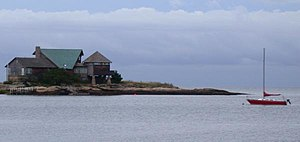 Green Island and Long Island Sound seen from I...