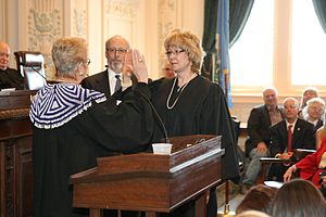 Noma Gurich - The swearing in of Oklahoma Supreme Court Justice Noma E. Gurich.