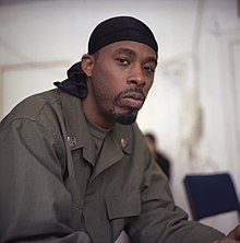 e758d0351e2 American rapper GZA wearing a du-rag