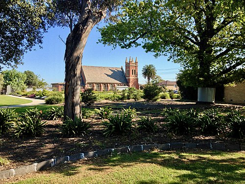 H.V. McKay Memorial Gardens & church.jpg