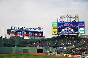 English: New HD screens introduced in Fenway P...