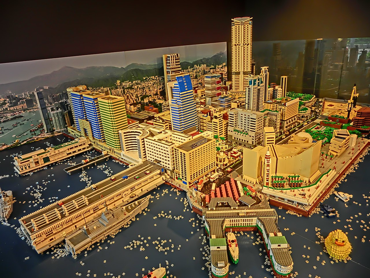 Pictures Of Toy Models Of Cities : File hkpieg city gallery exhibit 尖沙咀 tst 現今 建築物 lego