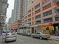 HK 大坑 Tai Hang 浣紗街 Wun Sha Street 浣紗花園 WunSha Tower Apr-2014 sidewalk carpark n indoor carpark building.JPG