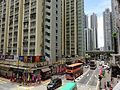 HK SWH 筲箕灣 Shau Kei Wan 太安樓 Tai On Building facade view from footbridge July 2016 street.jpg