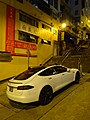 HK SW Tasta motor vehicle white car SR1 parking Pound Lane night Tai Ping Shan Street Jan-2016 DSC 008.JPG