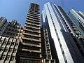 HK Sheung Wan Bonham Strand Cheong Sun Building facade West Exchange Tower Sept-2012.JPG