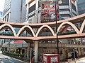 HK Tram tour view Causeway Bay 怡和街 Yee Wo Street round ring footbridge August 2018 SSG 06.jpg