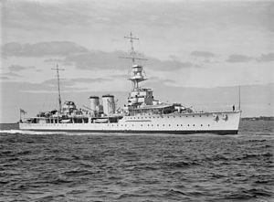 HMS Danae (D44) - HMS Danae in 1937