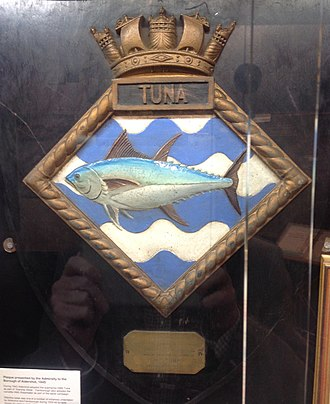 HMS Tuna (N94) - HMS Tuna plaque, presented to the Borough of Aldershot to commemorate Warship Week in 1942