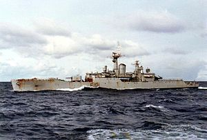 Battle of Seal Cove - HMS Yarmouth, 5 June 1982