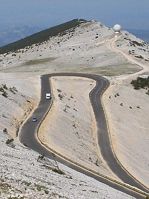 Hairpin turn - Hairpin turn on Mont Ventoux in France