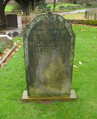 George William Spencer Lyttelton - St John the Baptist Church, Hagley, grave of George William Spencer Lyttelton (1847–1913).