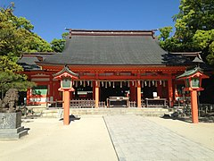 Haiden of Sumiyoshi Shrine.JPG