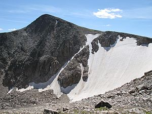 Tyndall Glacier (Colorado) - Hallett Peak and Tyndall Glacier