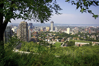 Samuel Lawrence - Photograph of downtown Hamilton, Ontario taken from Sam Lawrence Park