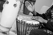 Hand drumming is significant throughout Africa