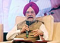 """Hardeep Singh Puri addressing at a seminar on """"Building Resilient and Quality Infrastructure"""", during the 3rd Annual Meeting of Asian Infrastructure Investment Bank, in Mumbai.JPG"""