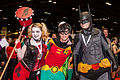 Harley, Robin and Batman - C2E2 2015 (16661233944).jpg