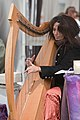 Harpist at Art in the Park festival and exhibit Morro Bay CA May 2009.jpg