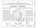 Hayden Bridge, Spanning McKenzie River at Southern Pacific Railroad (moved from Springfield, Lake County, OR), Springfield, Lane County, OR HAER ORE,20-SPRIF,2- (sheet 1 of 4).png