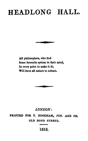 Headlong Hall - First edition title page