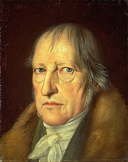 Portrait by Jakob Schlesinger dated 1831, the year of Hegel's death