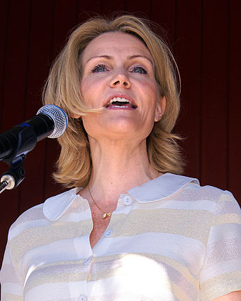 Thorning-Schmidt in 2008, as leader of the opposition - Helle Thorning-Schmidt
