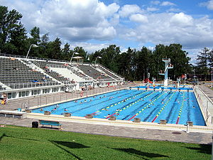Helsinki Swimming Stadium - The Swimming Stadium in the summer 2006.