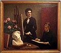 Henri Fantin-Latour, la lezione di disegno nello studio, Louise Risener ed Eva Callimaki-Catargi, 1879.jpg
