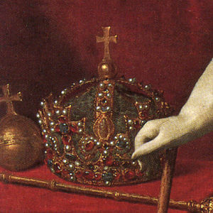 Tudor Crown - The crown in a portrait of Charles I