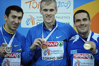 Heptathlon - Heptathlon podium at the European Athletics Indoor Championships 2009 in Turin