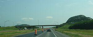 Quebec Autoroute 20 - Autoroute 20 eastbound, south of Rivière-du-Loup