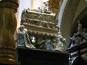 Congress of Gniezno - Silver relic coffin of St. Adalbert at Gniezno Cathedral
