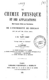 Hoff - La Chimie physique et ses applications.djvu