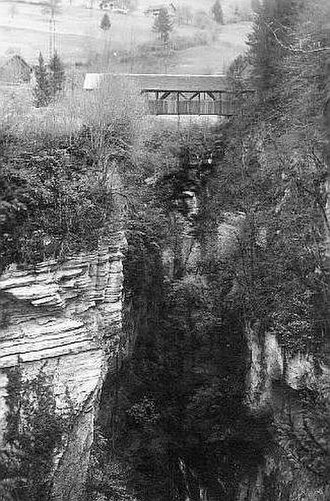 Kerns - Hohe Brücke (High Bridge) near Kerns, picture from 1893
