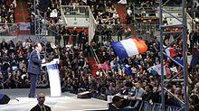 Hollande durante la campagna presidenziale del 2012