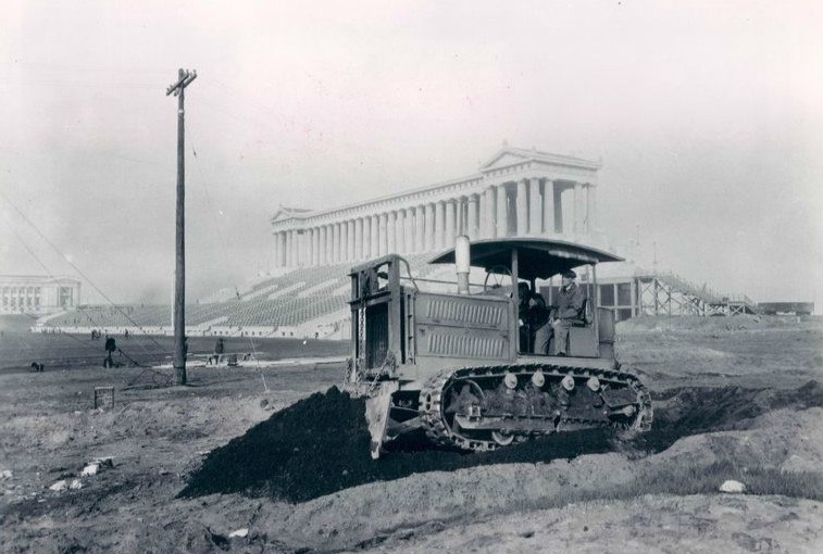 Holt tractor Soldier Field Chicago 1924
